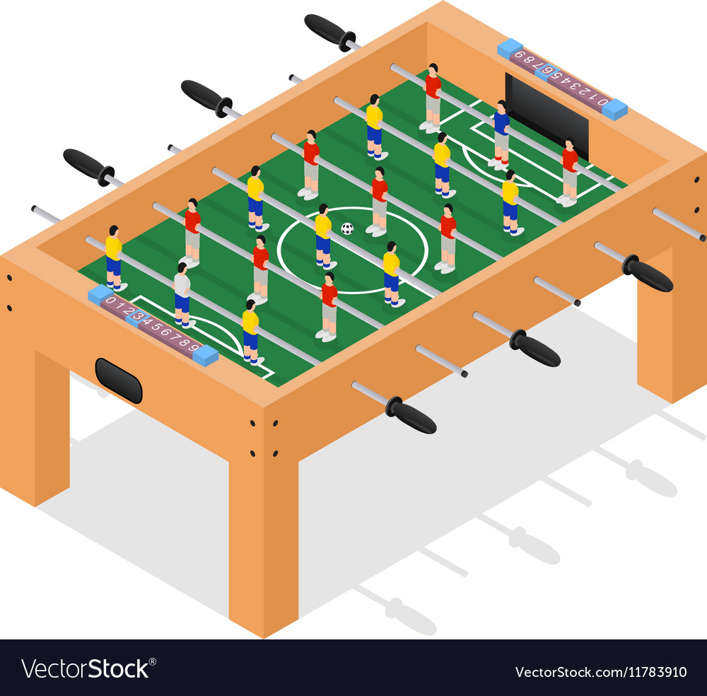 Table Football Game Isometric View Royalty Free Vector Image