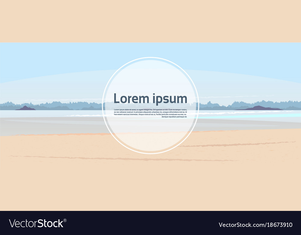 template horizontal banner beach and seaside vector image