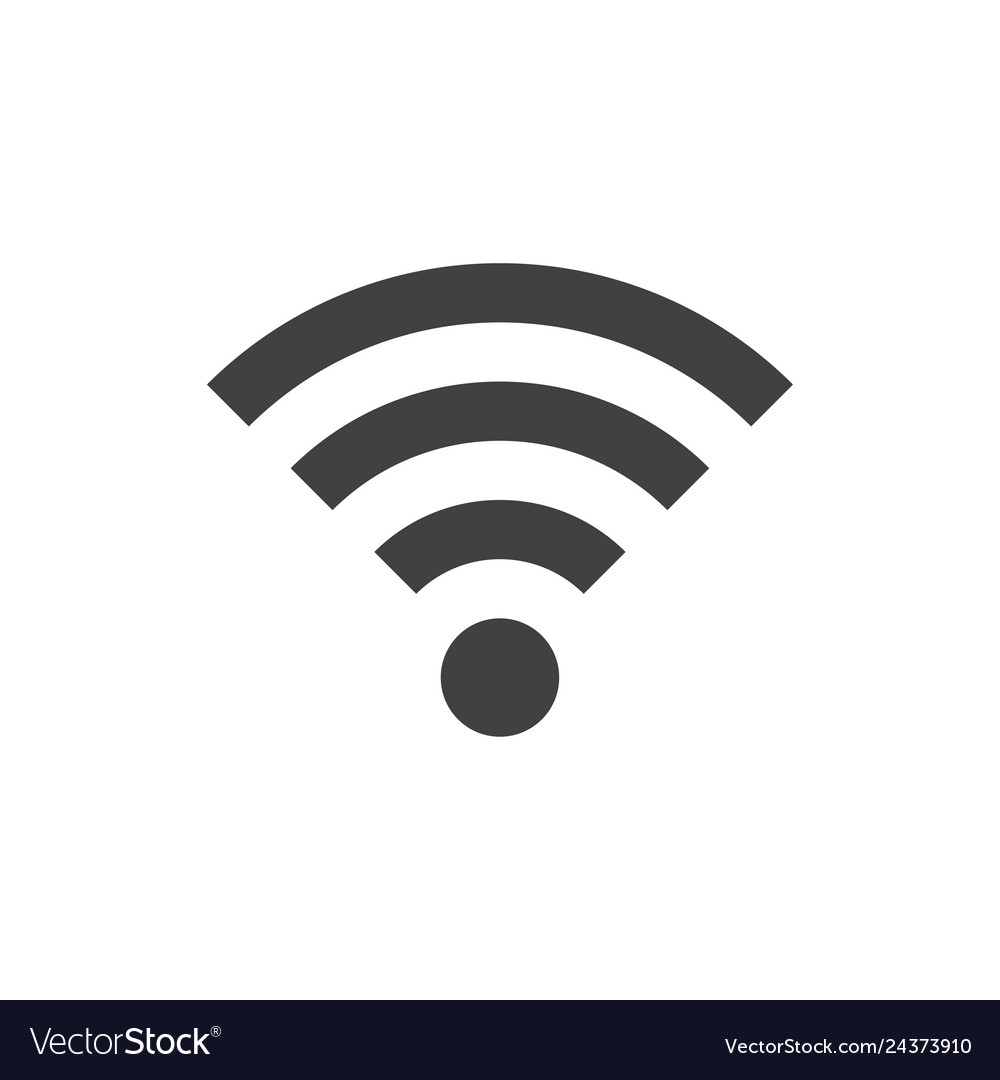 Wifi icon in flat style gray color white
