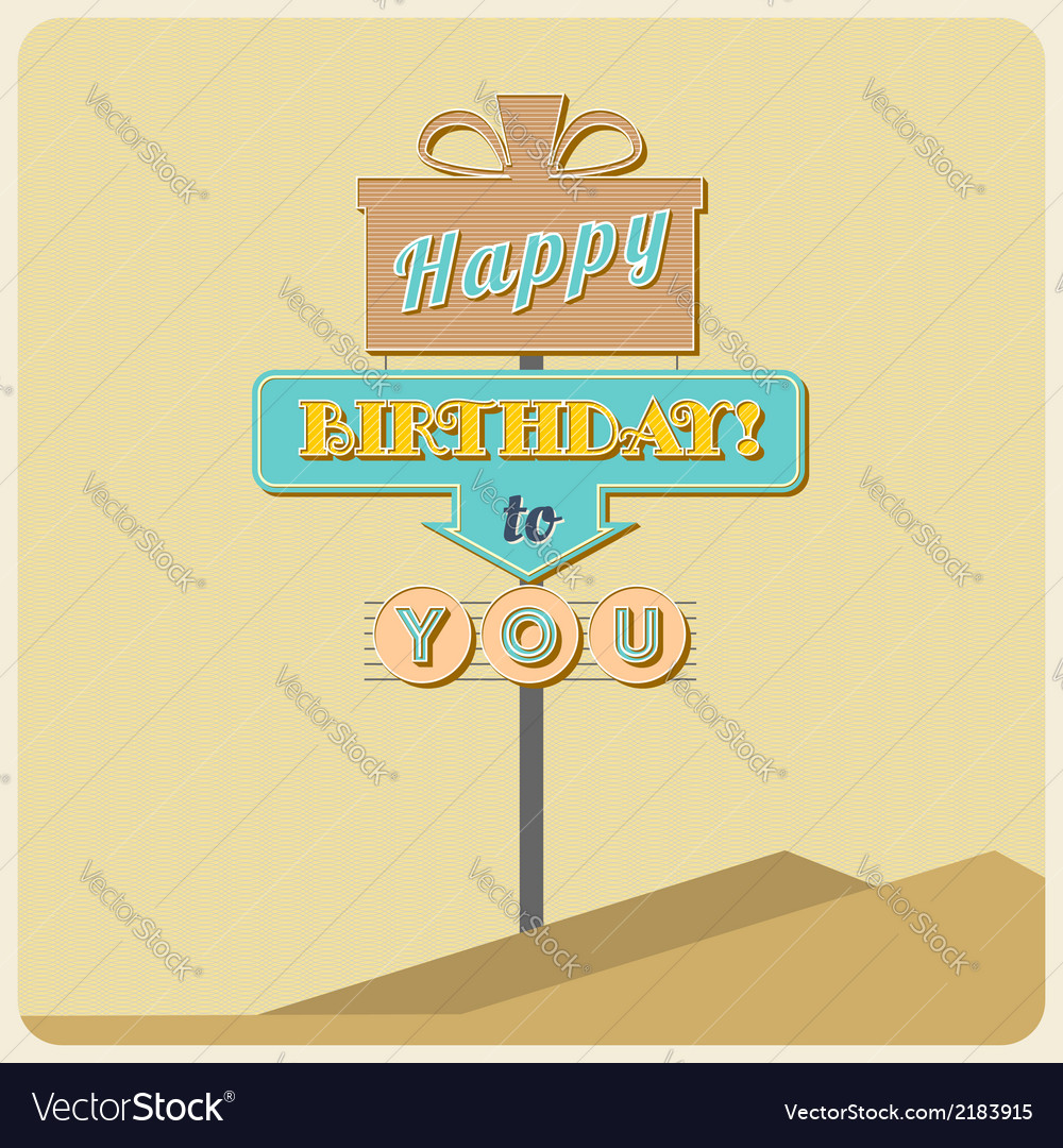 Birthday greetings sign