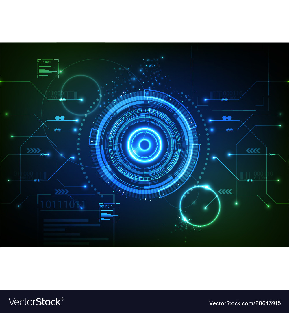 Blue green technology background vector image