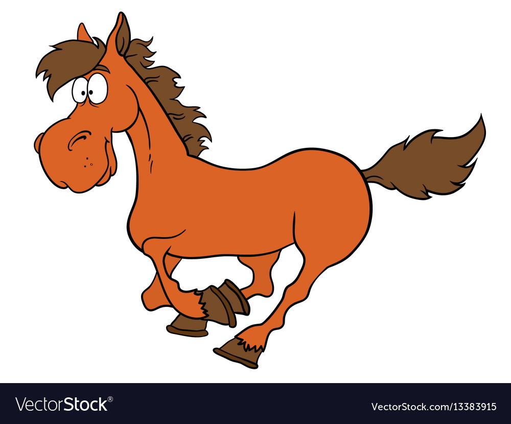 Cartoon farm animals cute horse smileseps 10