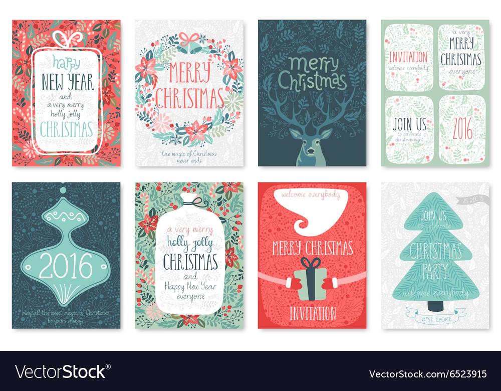 Christmas flyers doodle