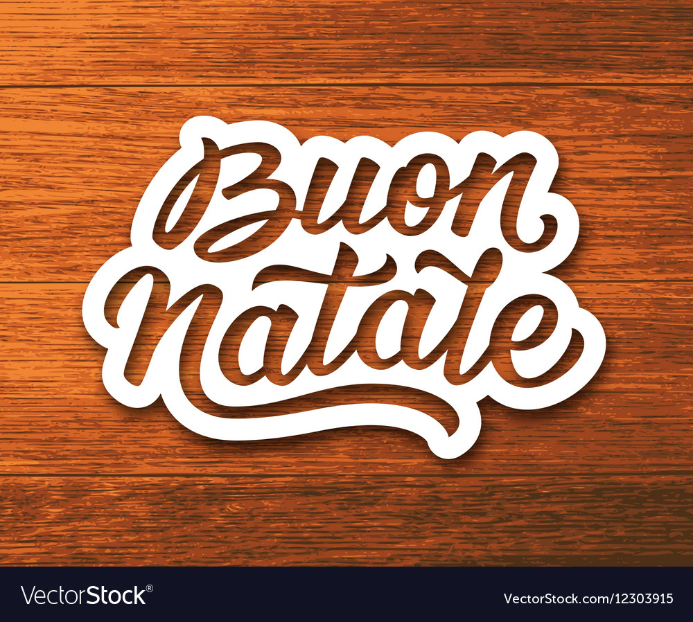 Merry Christmas Greetings Text In Italian Vector Image