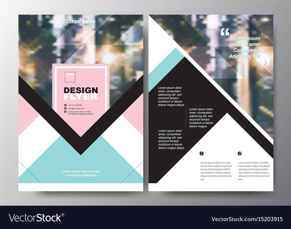 minimal poster brochure flyer design layout vector image
