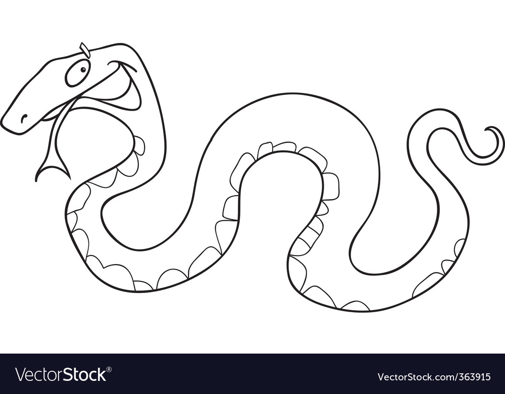 Snake for coloring book