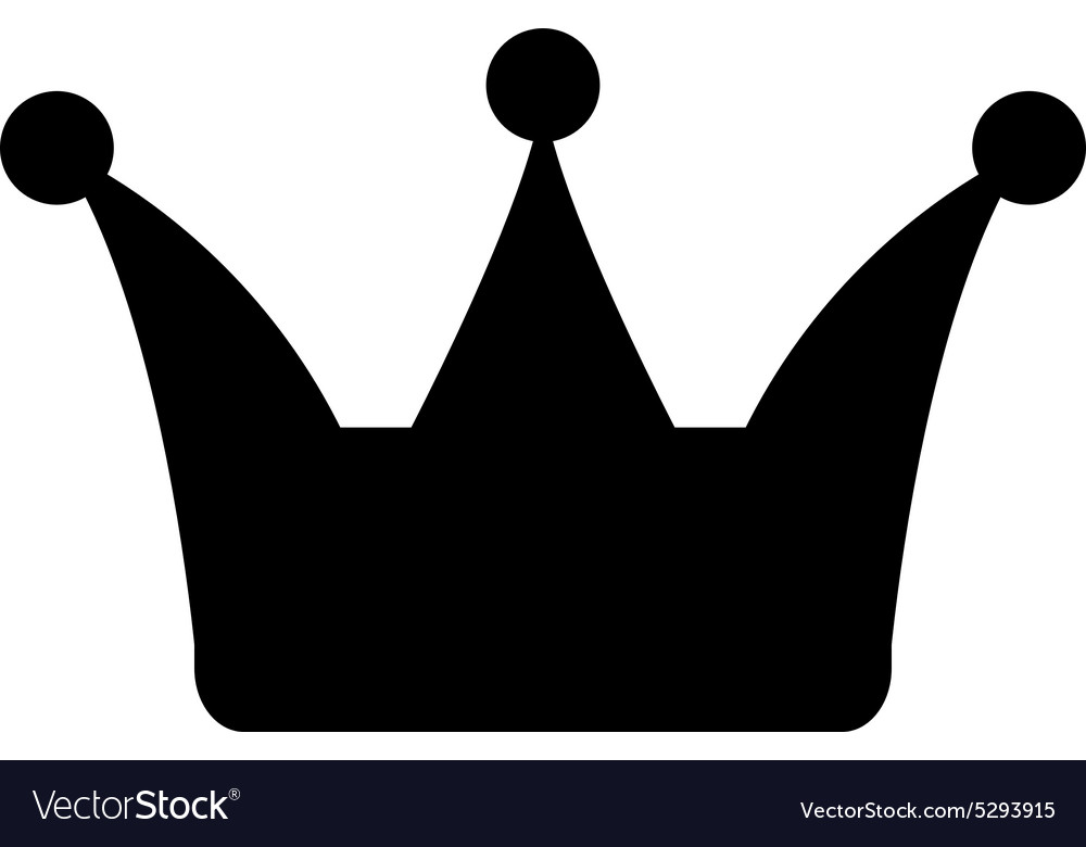 The Crown Icon Crown Symbol Royalty Free Vector Image