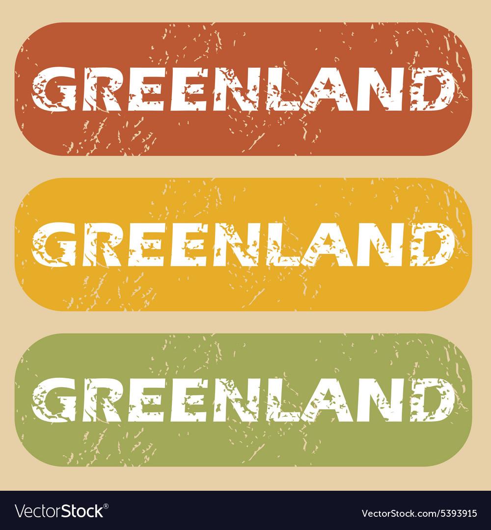 Vintage Greenland stamp set