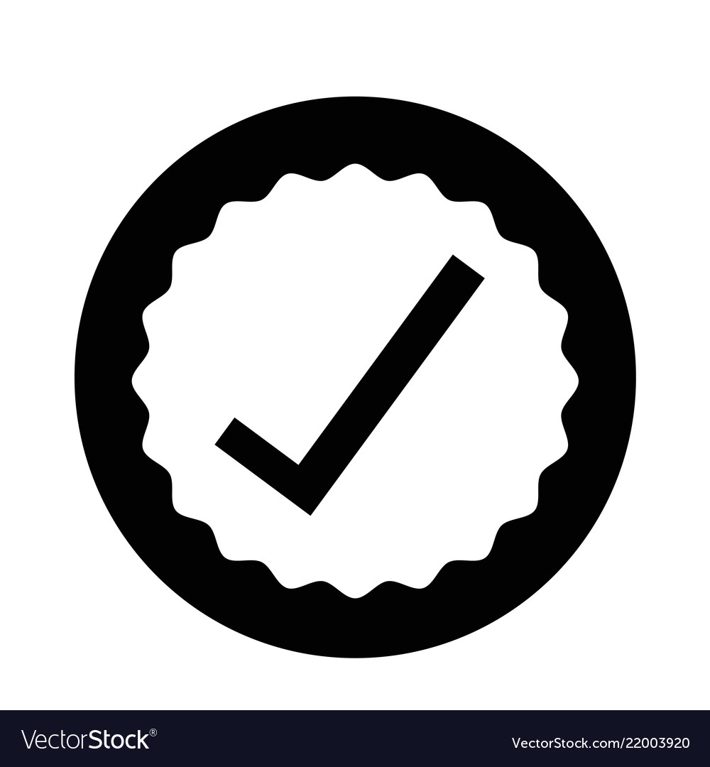 approval icon royalty free vector image vectorstock