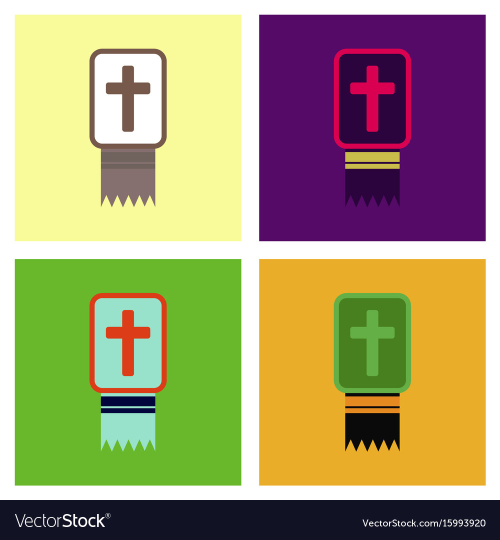 Assembly flat icons bible book