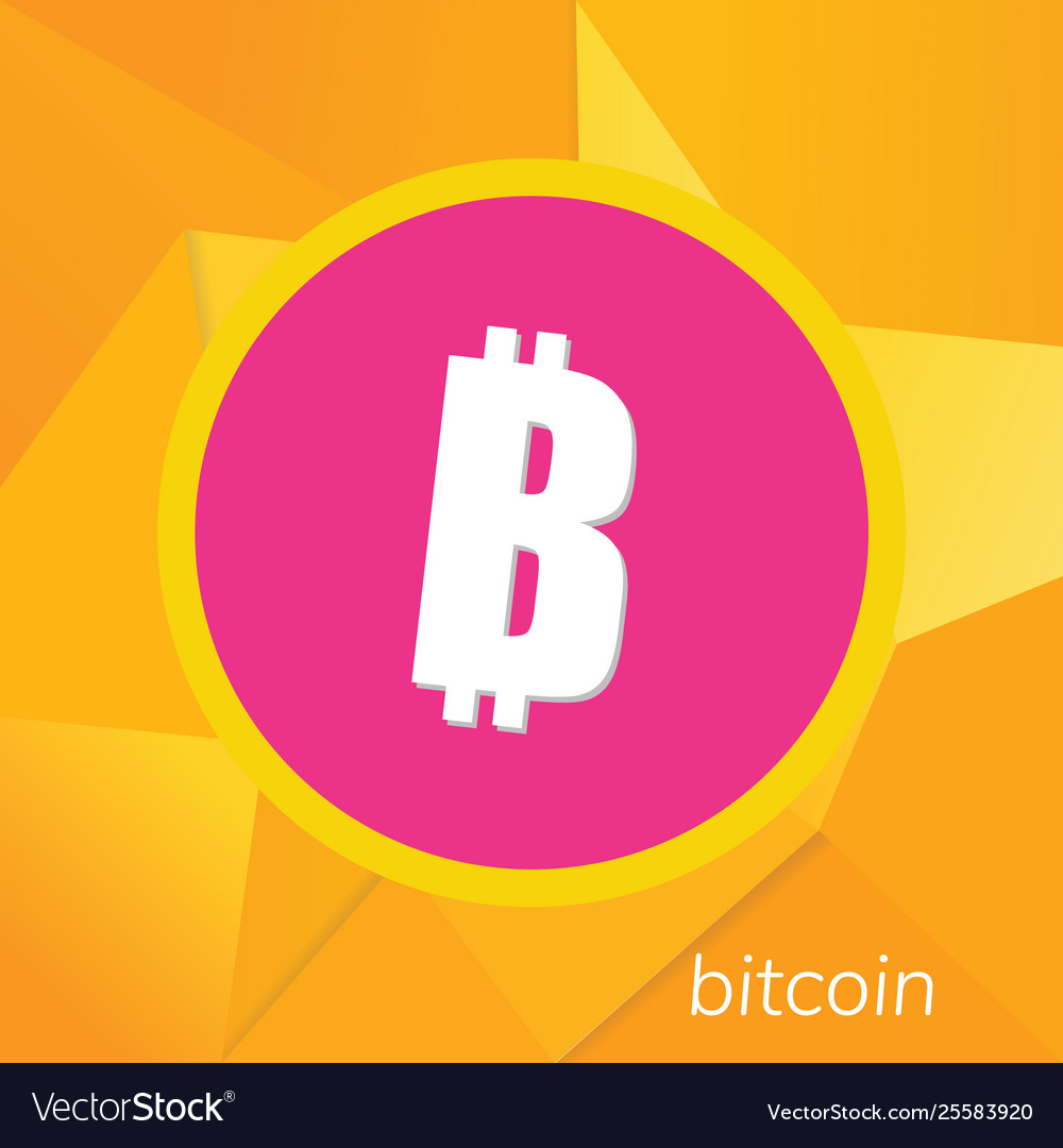 Bitcoin logo cryptography currency sign icon