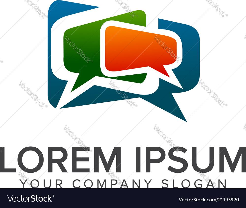 Comment communications logo design concept