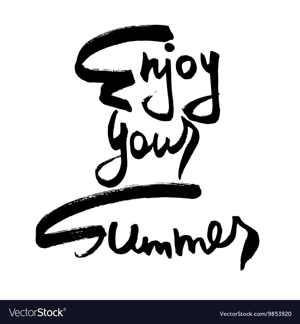 enjoy your summer creative card royalty free vector image