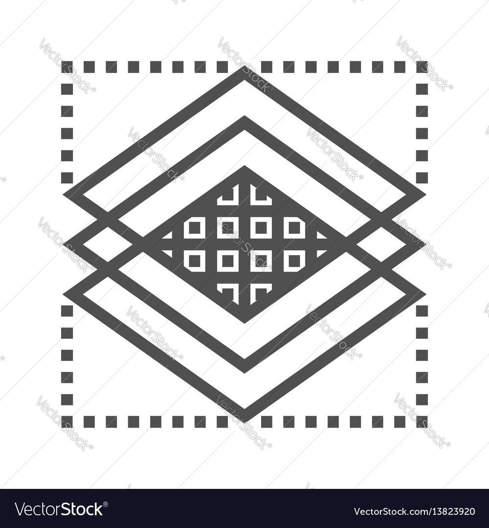 Layers line icon vector image