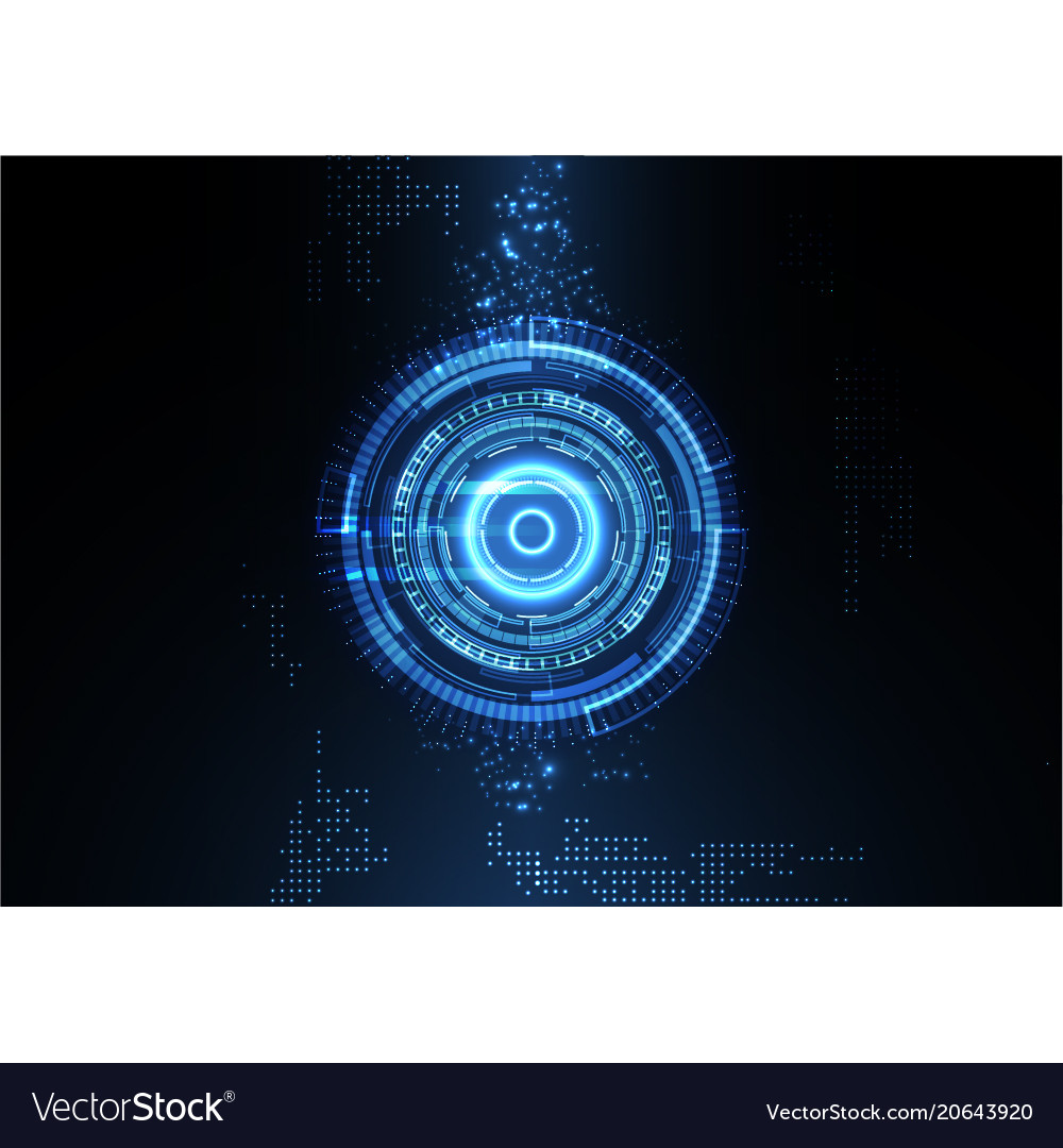 Light blue technology digital background vector image