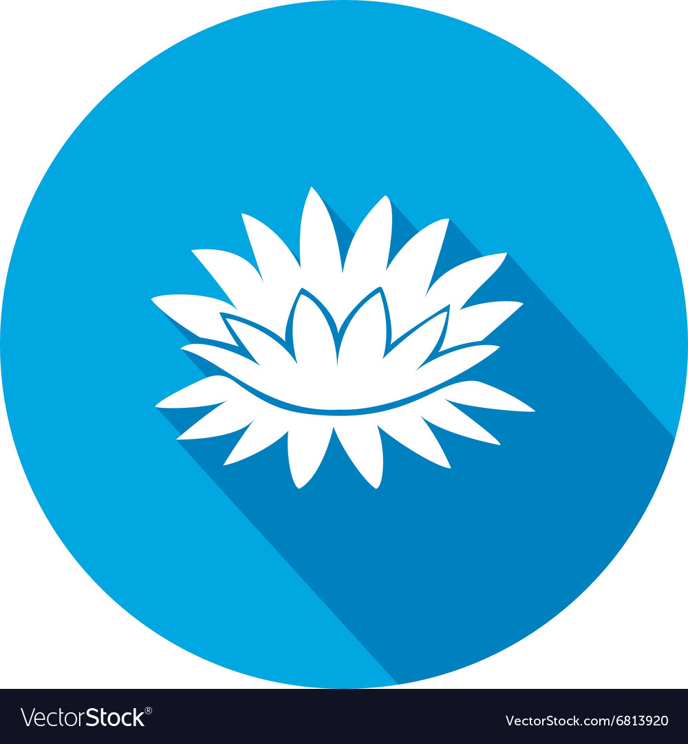 Lily flower icons water lilies floral symbol vector image izmirmasajfo