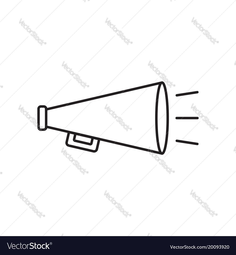 Megaphone flat icon bullhorn symbol logo