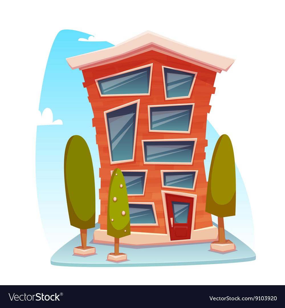 Office Building Cartoon Concept Royalty Free Vector Image