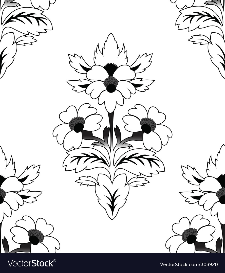 Seamless a repeating flower pattern vector image