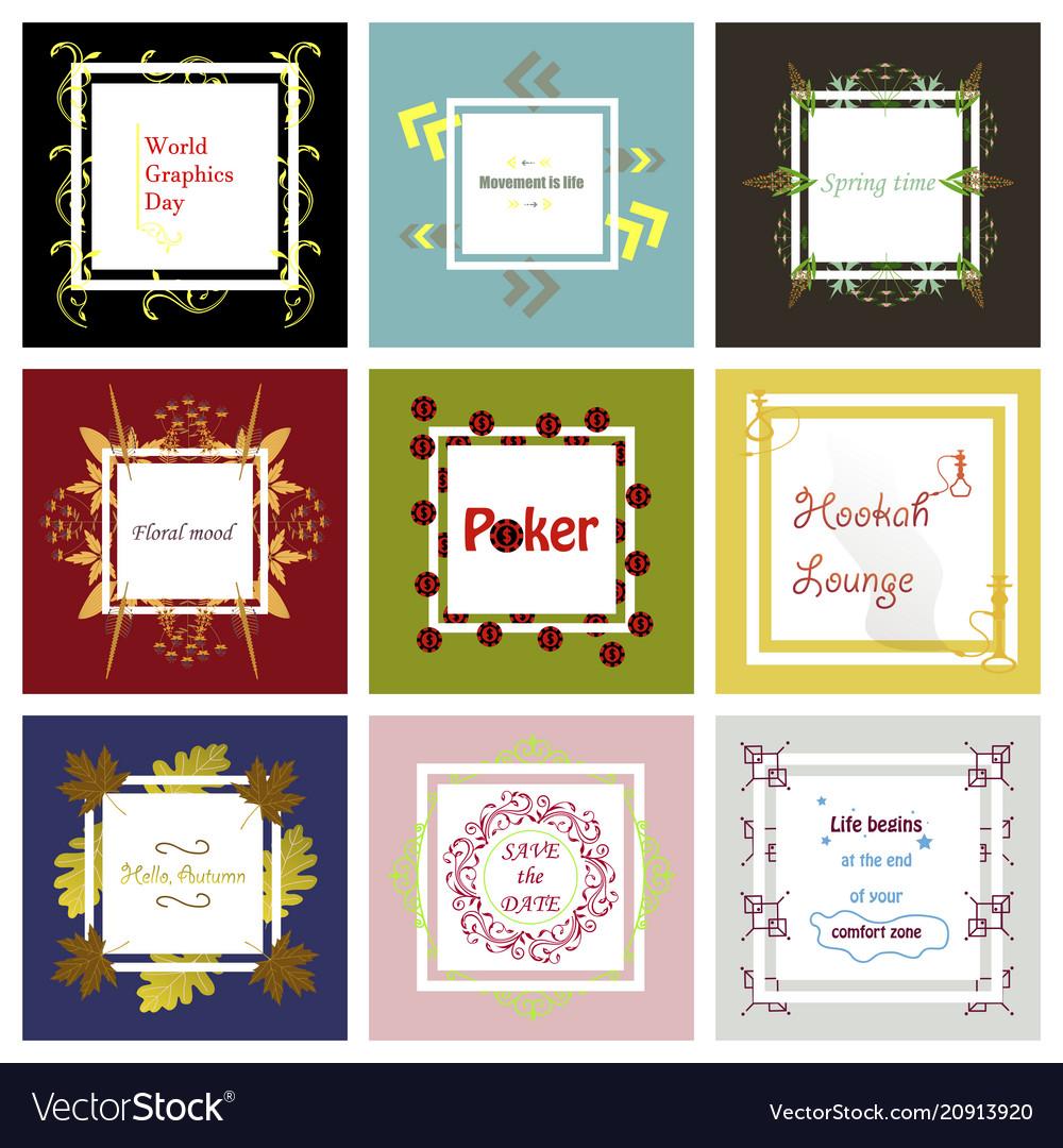 Set of typographic backgrounds motivational