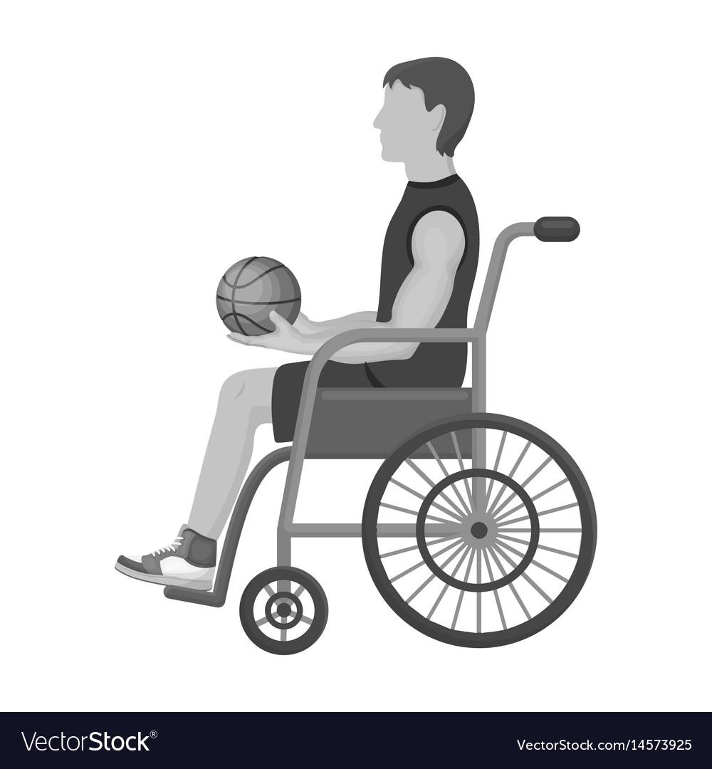 Basketball player disabledbasketball single icon