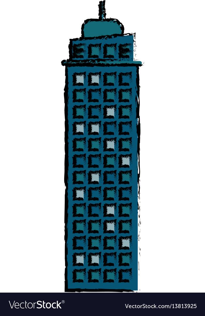 Building real estate facade icon