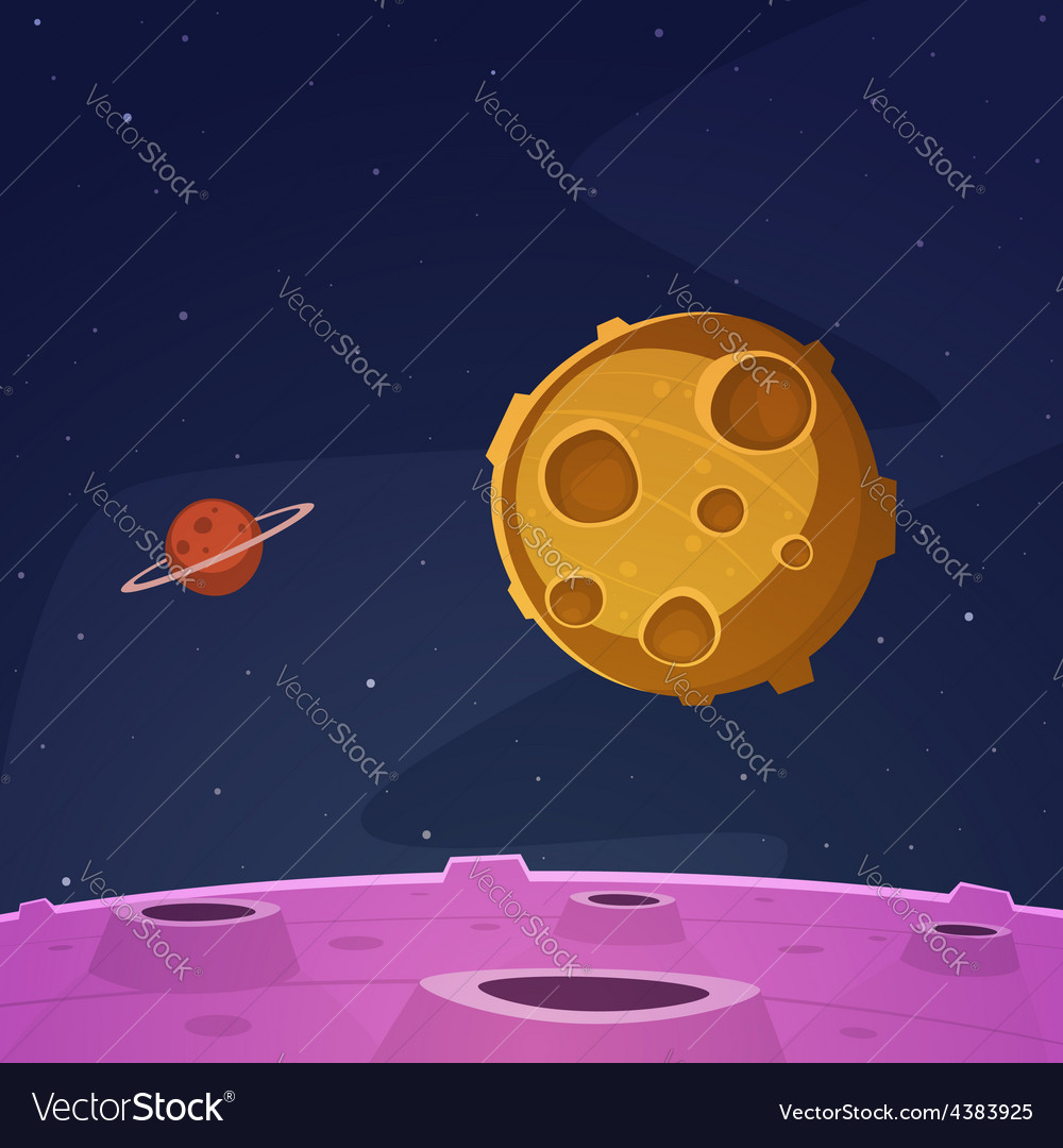 cartoon space background royalty free vector image