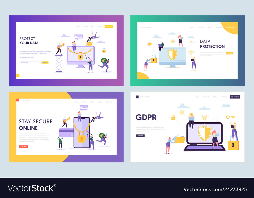Data center security concept landing page