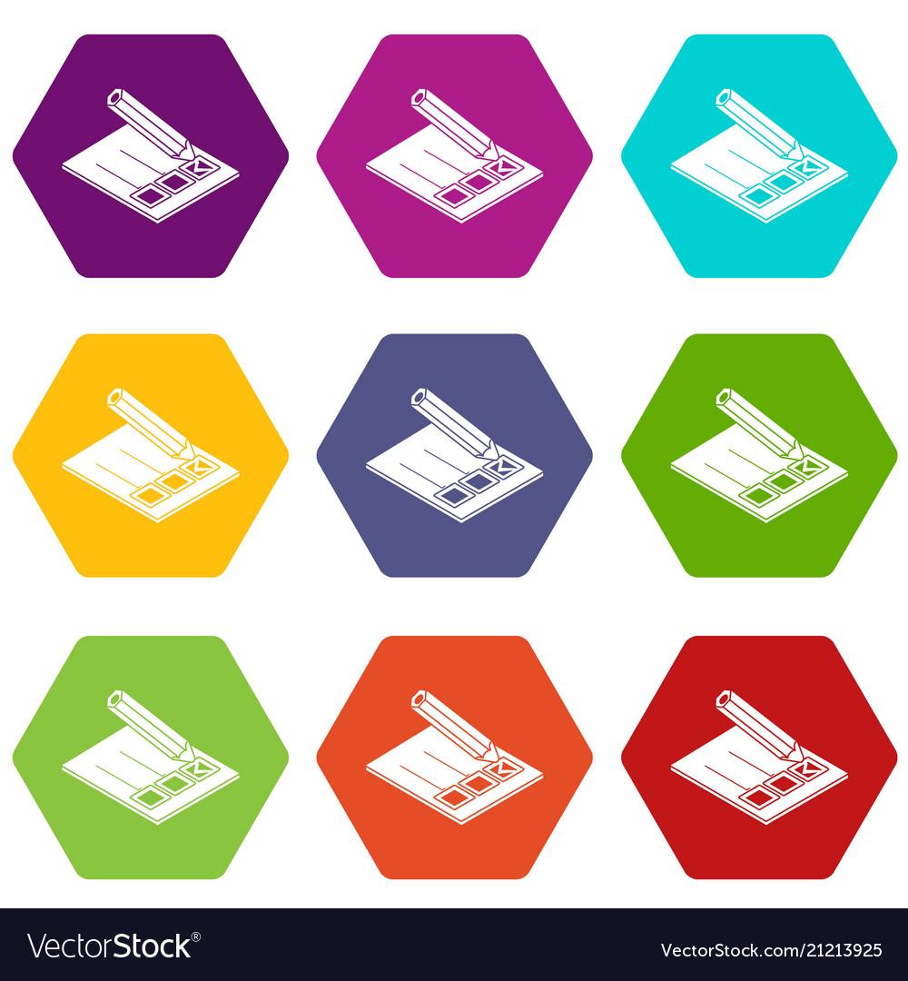 Election paper icons set 9