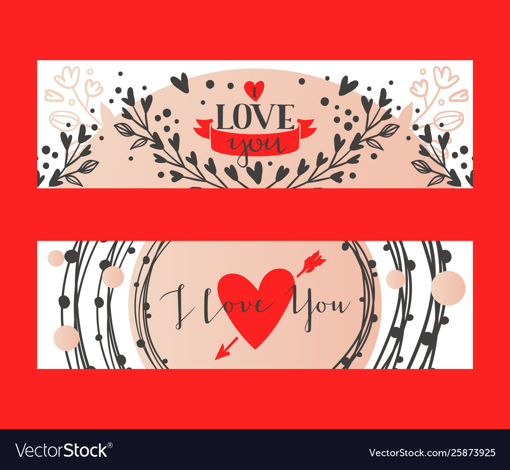 Hand drawn calligraphy text i love you for