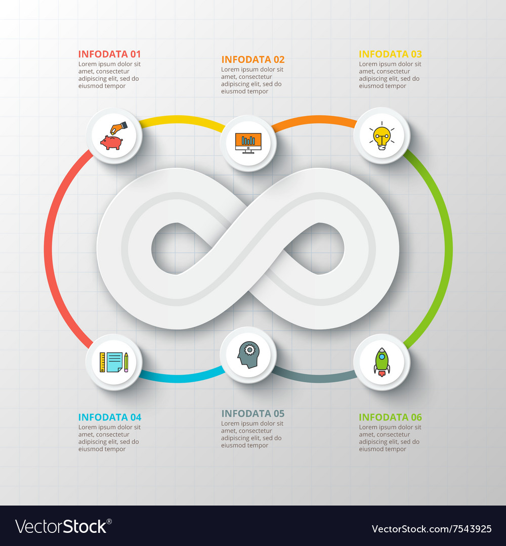 Infinity element for infographic