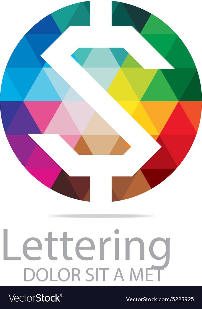 Lettering Z Rainbow Alphabet Design Vector Image
