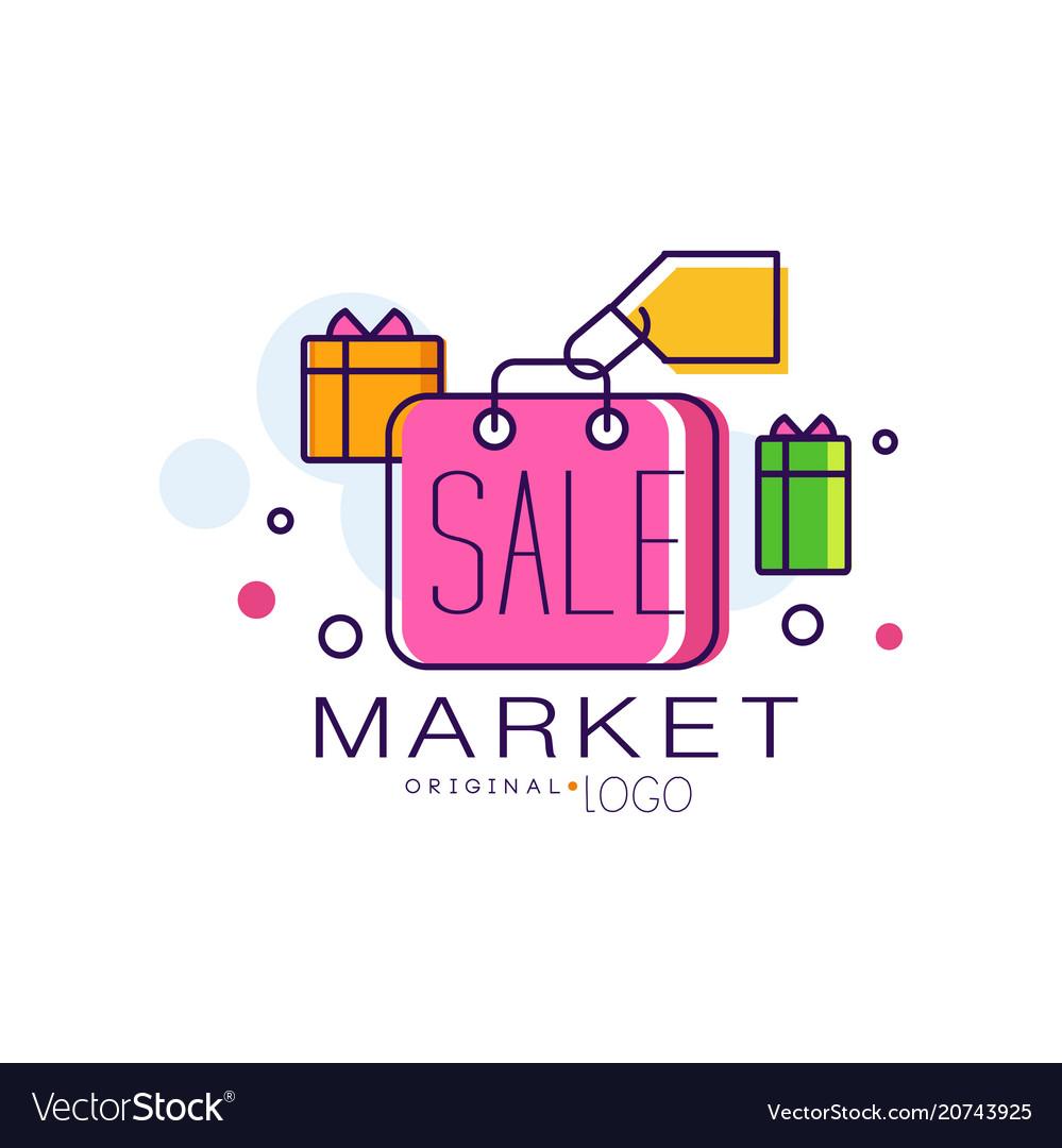 Market original logo colorful sale badge design