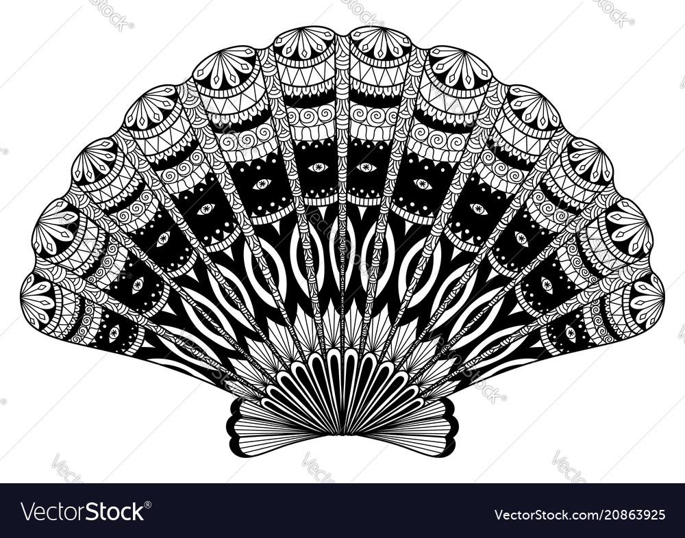 Seashell zentangle