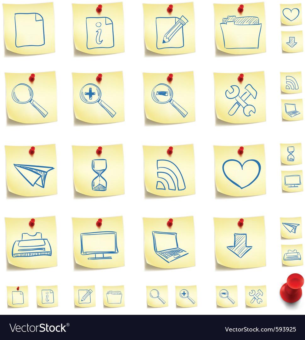 Sticker icon set vector image