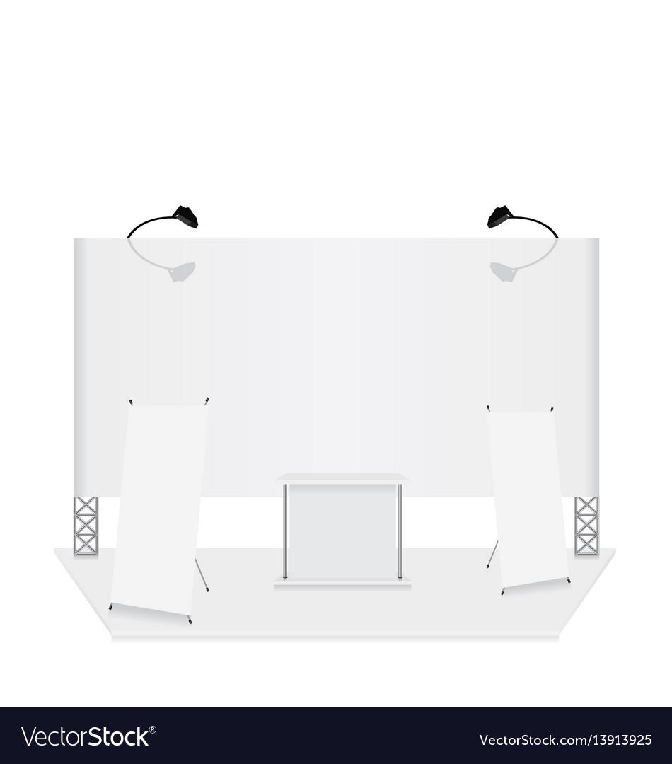 Exhibition Stand Design Presentation : Trade presentation exhibition stand royalty free vector