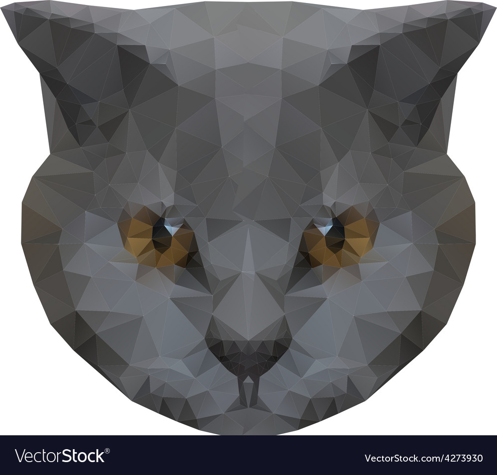 Abstract polygonal cat