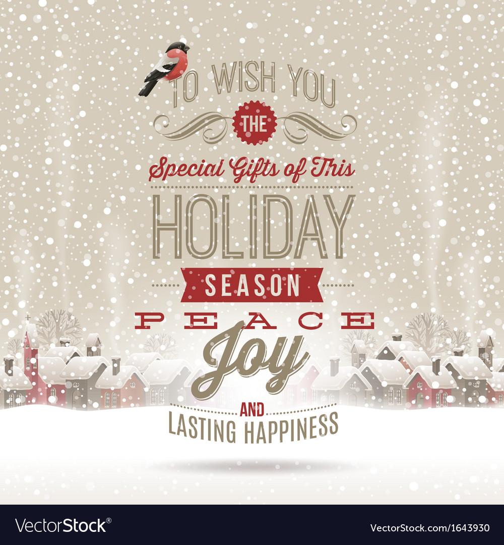 Christmas lettering greetings