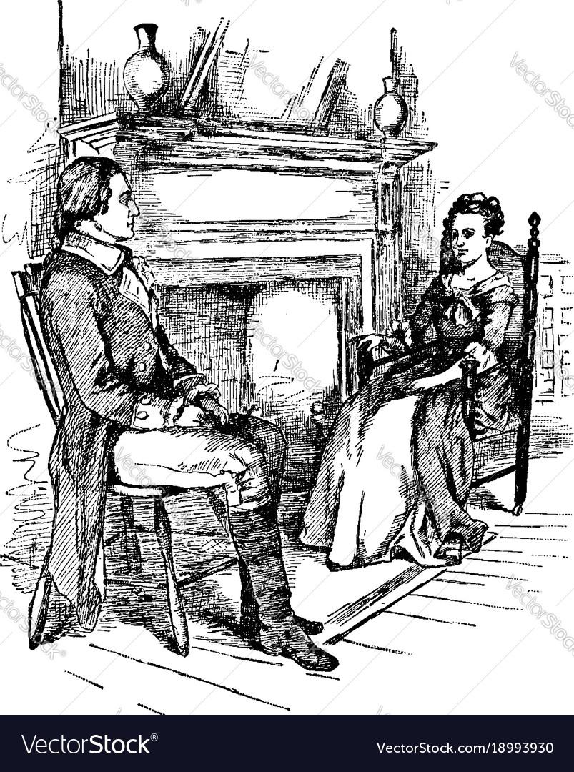 Colonel washington and mrs custis vintage