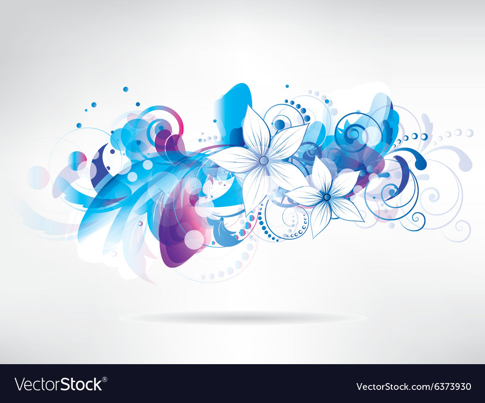 Floral abstract background with flowers