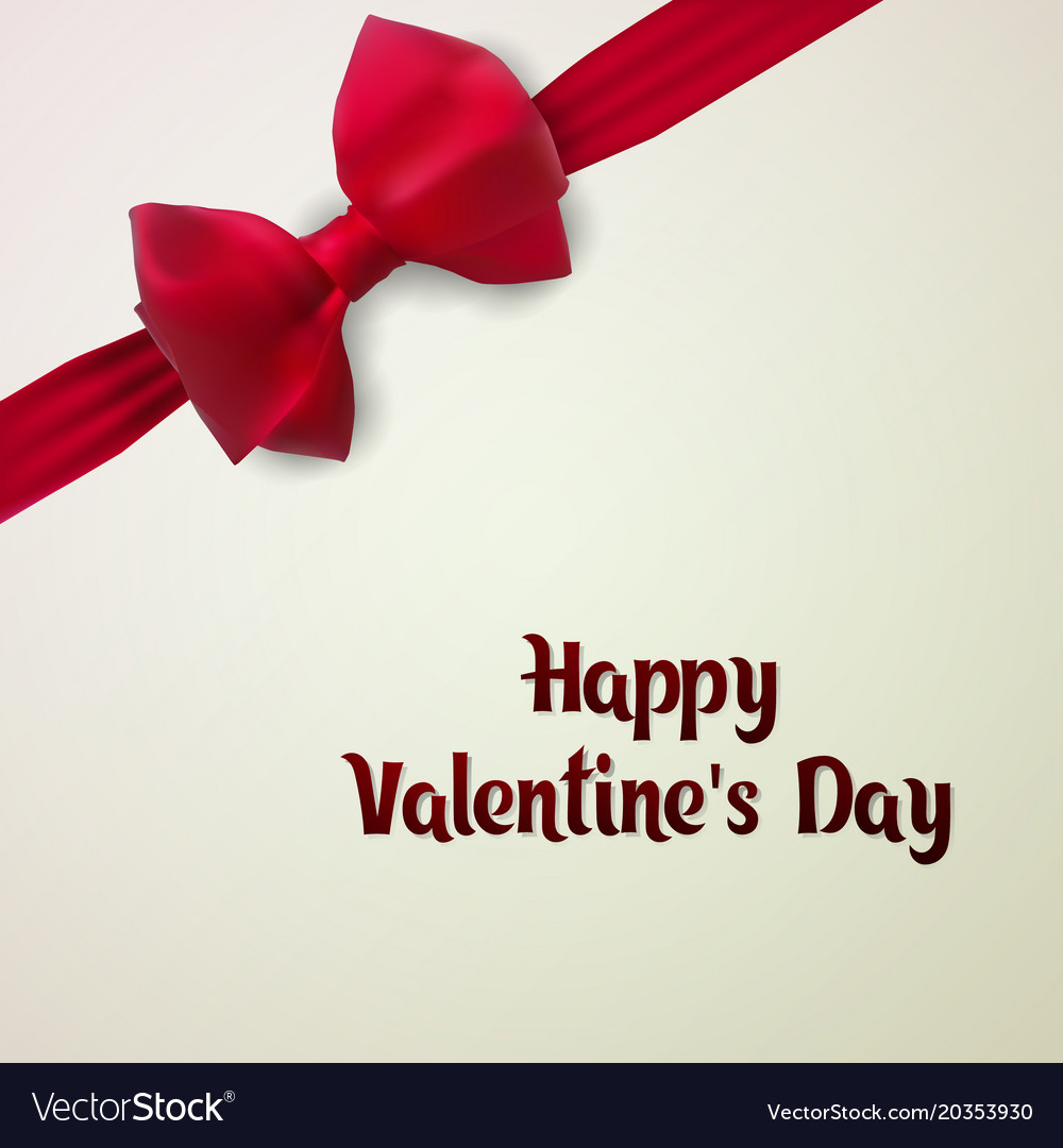 Happy Valentines Day Template Postcard E Card Vector Image