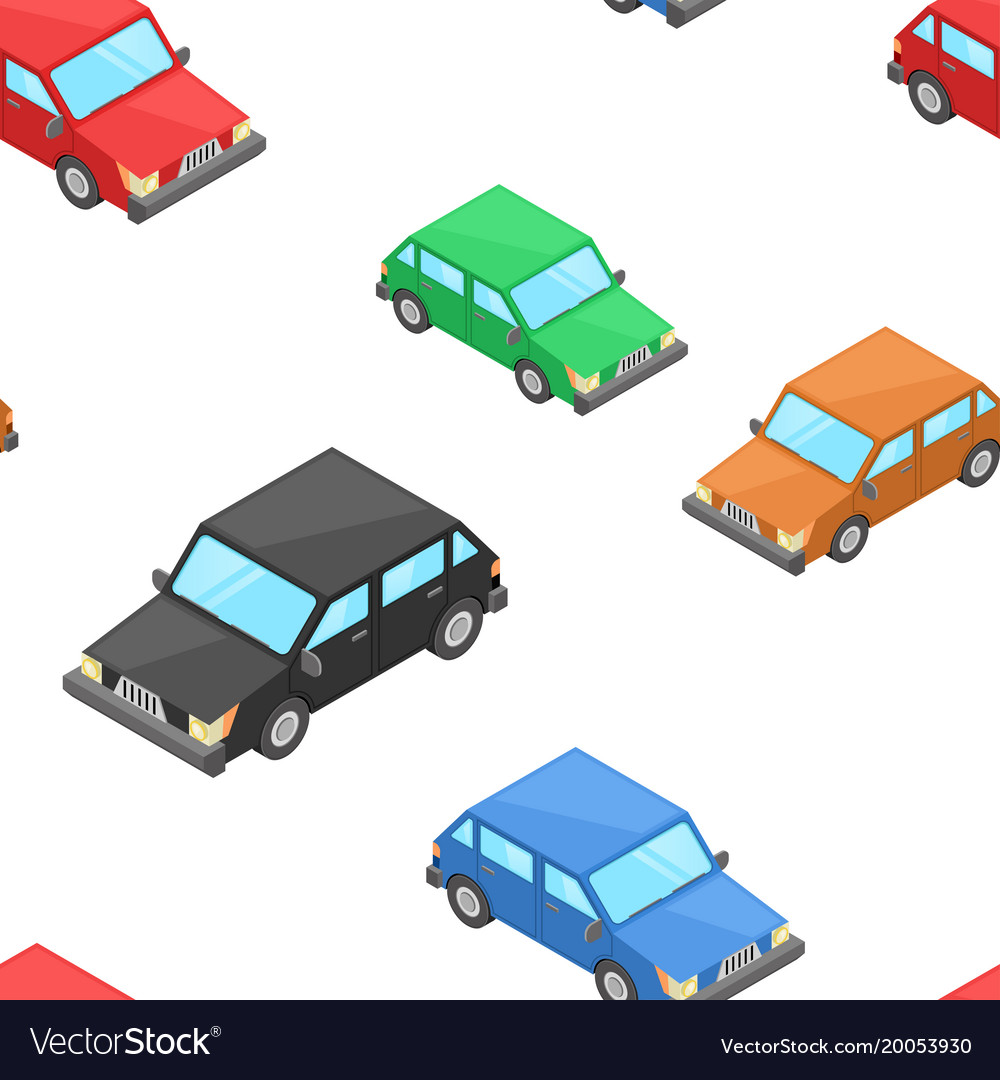 Isometric cars as seamless patter