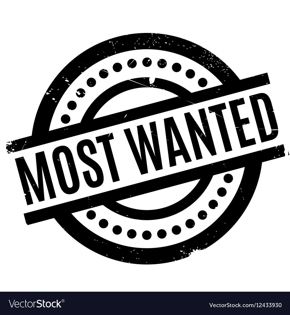 Most Wanted rubber stamp vector image