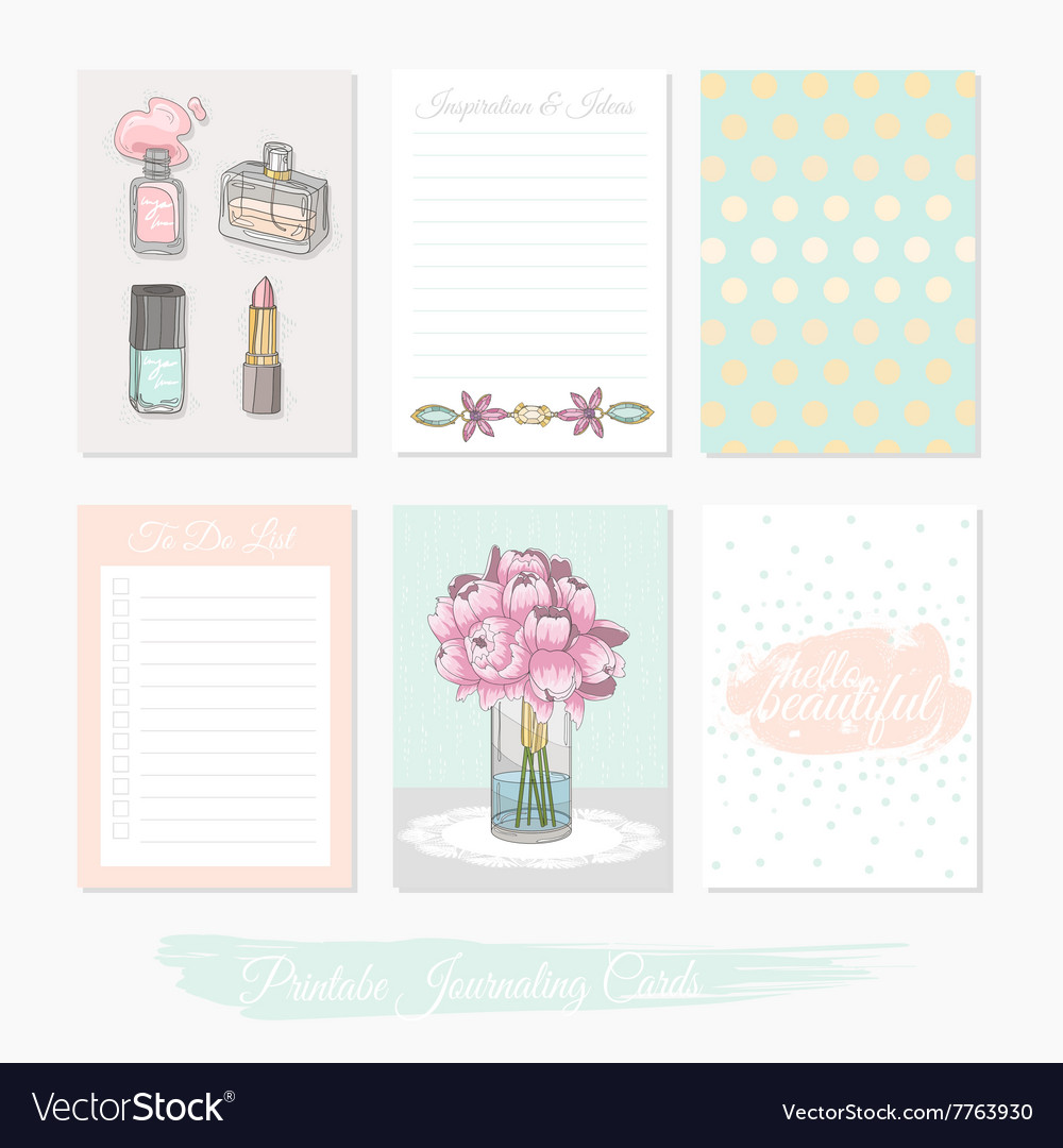 photograph relating to Printable Journaling Cards called Printable preset of journaling playing cards