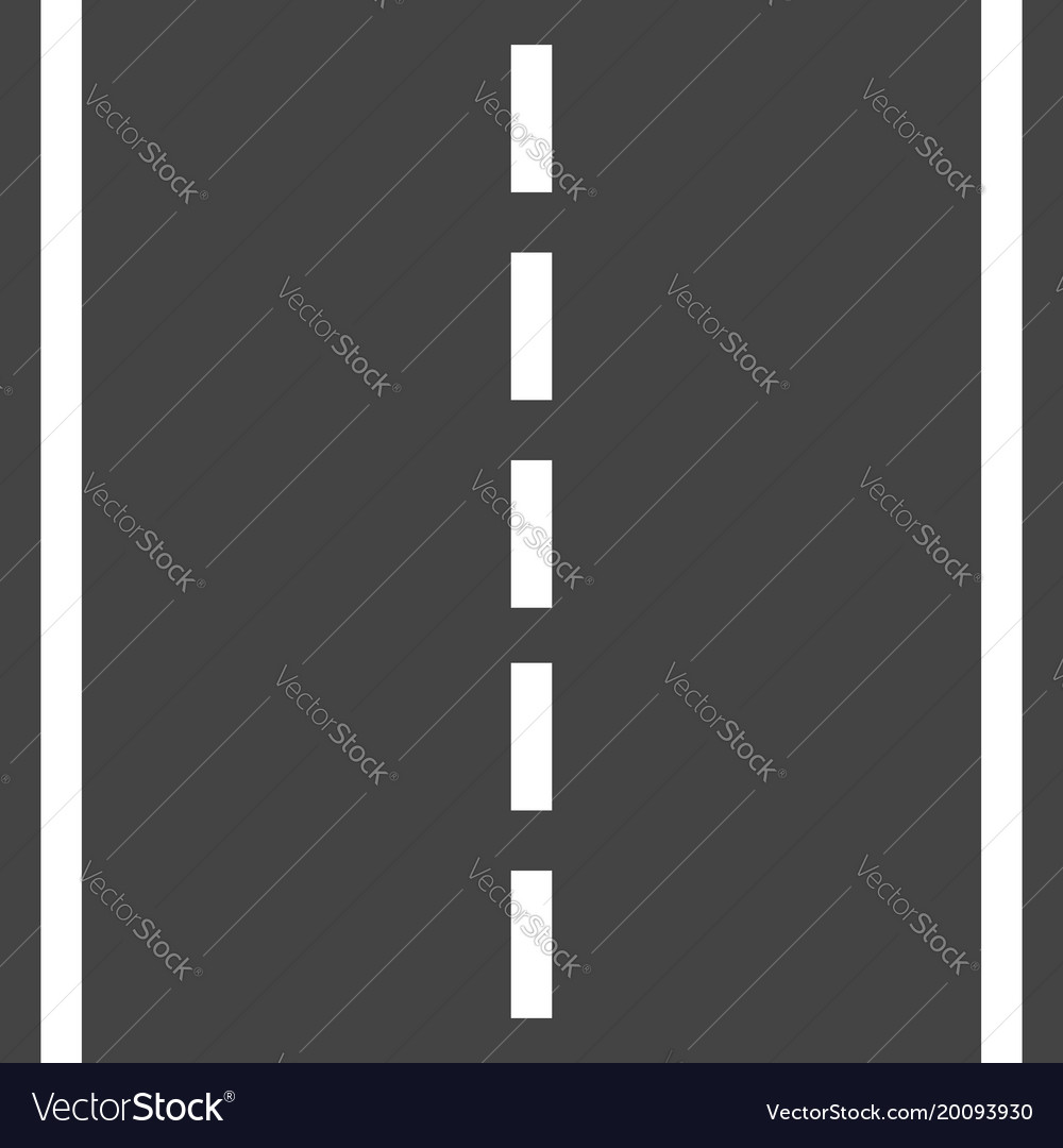 Straight road with white markings highway road Vector Image for Straight Road Vector Free Download  183qdu