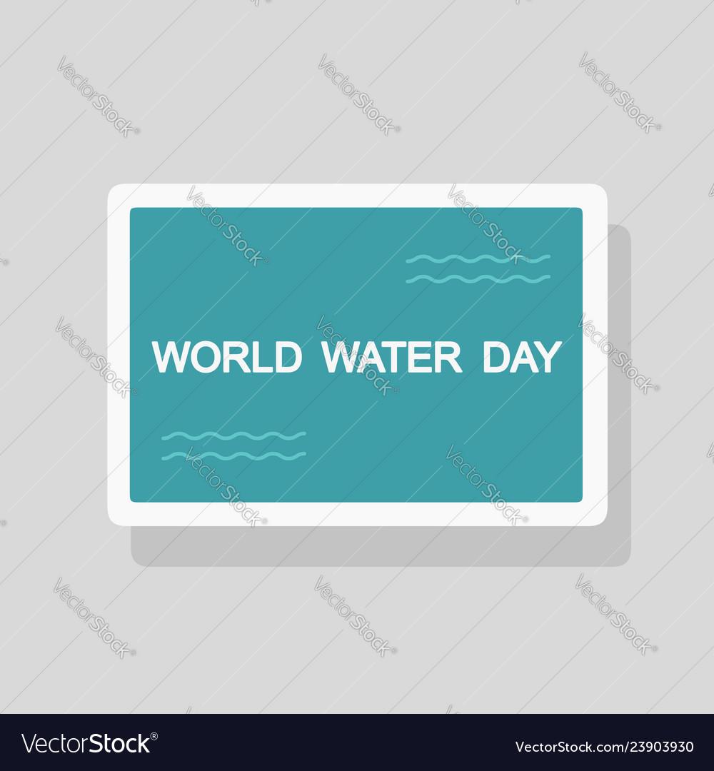 World water day greeting card minimalist style