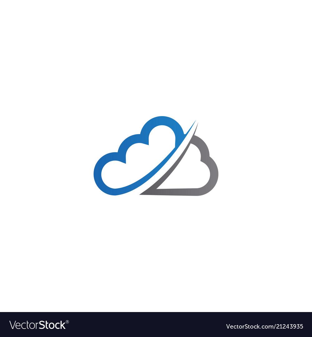 Cloud logo icon design template