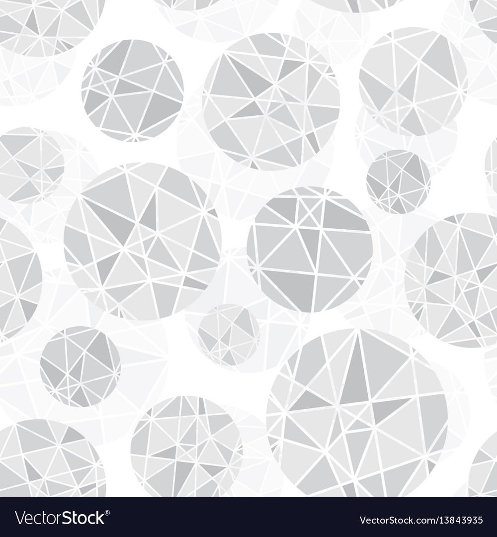 Light grey geometric mosaic circles with