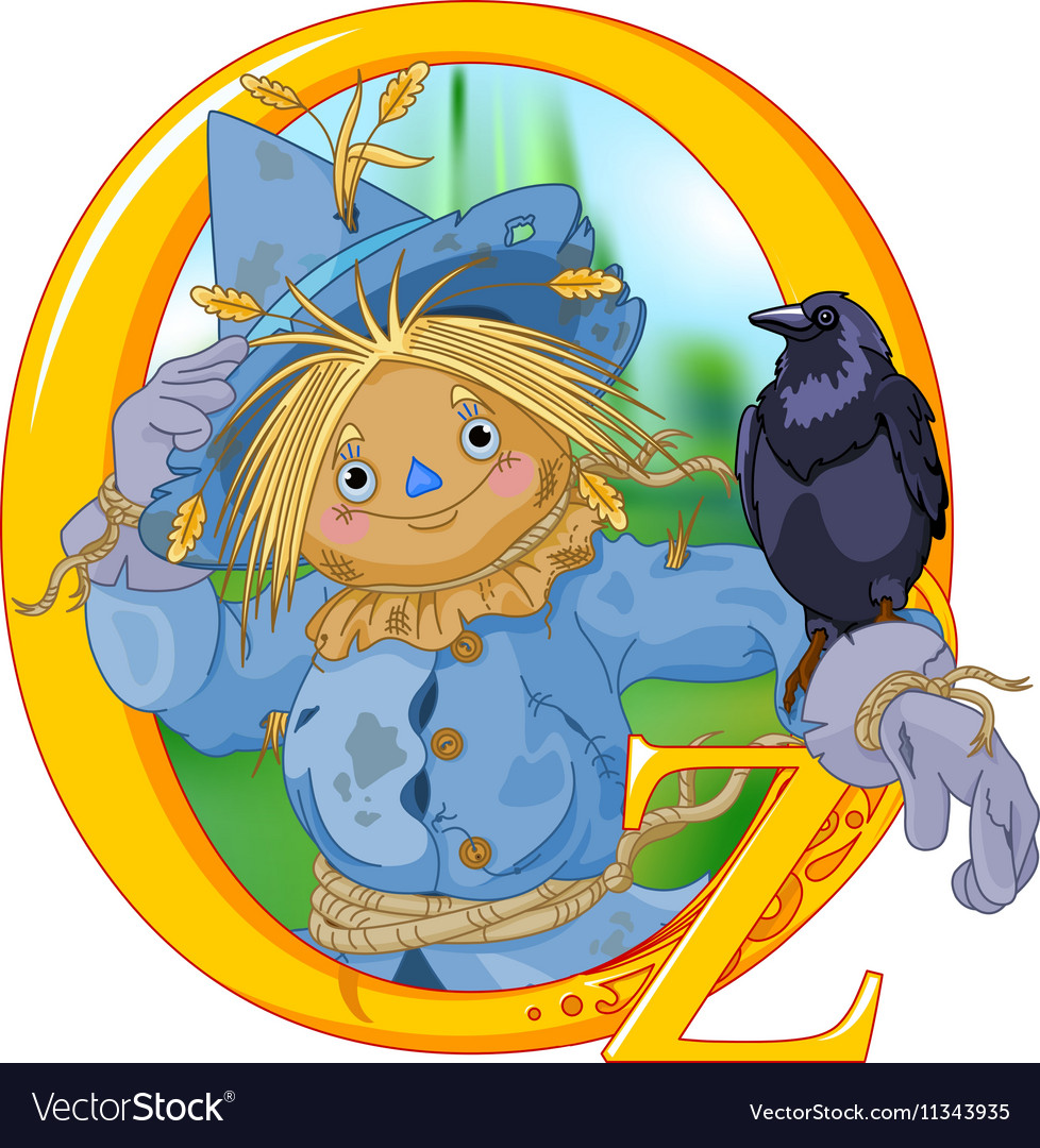 Scarecrow and Crow vector image