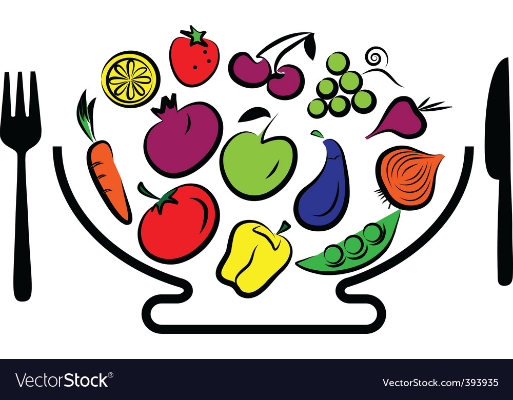 Vegetables and fruits bowl